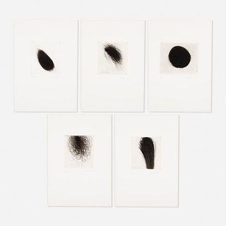 Arnulf Rainer, five works from Sieben Kleine