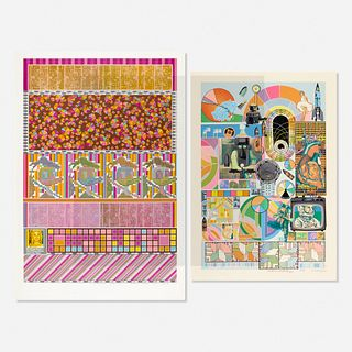 Eduardo Paolozzi, Untitled (two works)