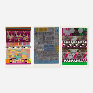 Eduardo Paolozzi, three works from Universal Electronic Vacuum