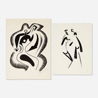 Alexander Archipenko, Sculptor; Encounter (two works)