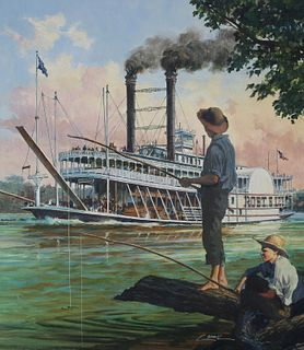 "Dennis Lyall (B. 1946) ""Robert E. Lee Riverboat"""