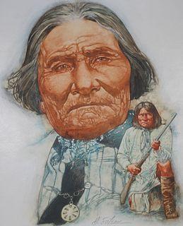 "Hodges Soileau (B. 1943) ""Geronimo"""