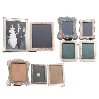Eight English Silver Photo Frames