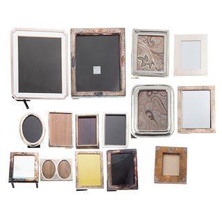 Collection Sterling, Plated & Other Photo Frames