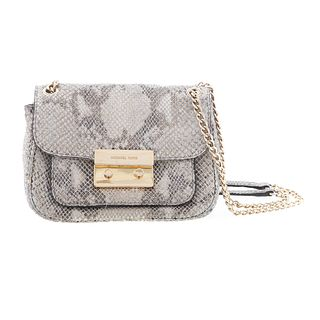 A Michael Kors Python Embossed Shoulder Bag