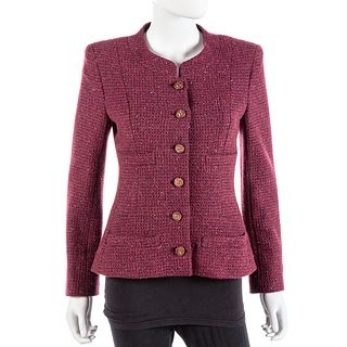 Chanel Burgundy Cashmere Jacket