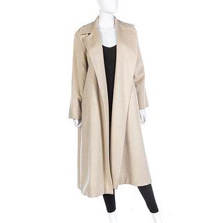 Max Mara Oatmeal Cashmere Coat