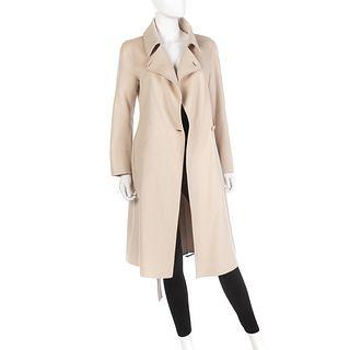 Max Mara Oatmeal Angora/Wool Coat