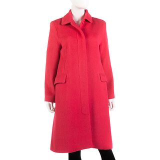 Whistles Hot Pink Wool Coat