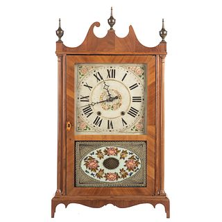 Terry Style Pillar Scroll Mantel Clock