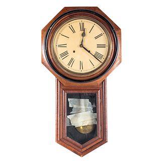 Continental Walnut Wall Regulator Clock