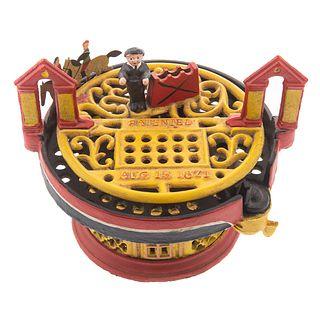 Horse Race Cast Iron Mechanical Bank