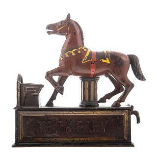 Trick Pony Cast Iron Mechanical Bank