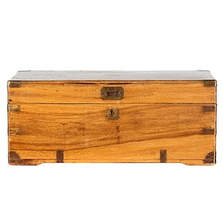 Victorian Brass Mounted Camphorwood Campaign Trunk