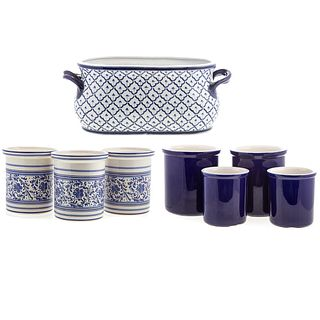 Ten Assorted Ceramic Storage Containers
