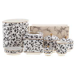 Seven Anali Ceramic Vanity Articles
