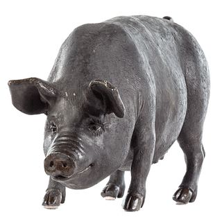 Cast-Lead Figure of a Pig