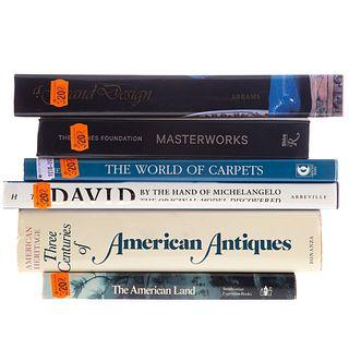 Six Assorted Art Subject Books