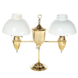 American Brass Double Student Lamp