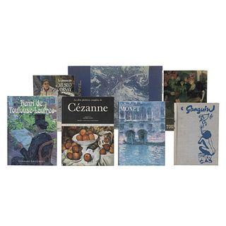 LIBROS SOBRE EL MUSEO ORSAY. PINTORES FRANCESES. La Obra Pictórica de Cézanne / Vida y obra Gauguin. Piezas: 7.