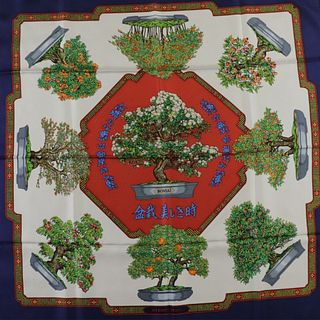 Hermes Silk Scarf - Bonsai