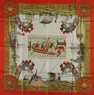 Hermes Silk Scarf - Les Normands, 1971