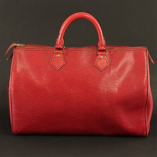 Louis Vuitton - Red Epi Leather Speedy 35