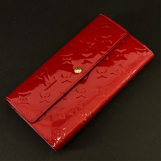 Louis Vuitton - Red Monogram Vernis Sarah Wallet