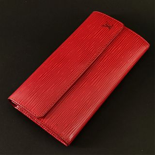 Louis Vuitton - Red Epi Leather Sarah Wallet