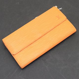 Louis Vuitton - Mandarine Epi Leather Sarah Wallet