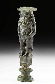 Romano-Egyptian Leaded Bronze Figure Bes