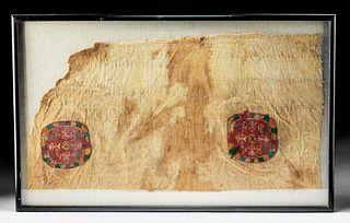 Large 4th C. Egyptian Coptic Textile Panel