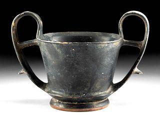 Greek Boeotian Blackware Kantharos