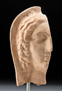Etruscan Terracotta Votive Half Head, ex-Charles Ede
