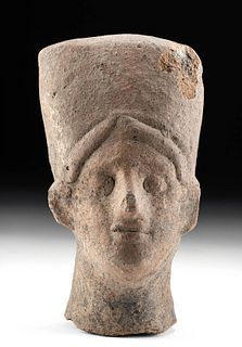 Etruscan Pottery Head of a Dignatary / Nobled