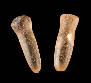 Neolithic North African Quartz Ear Plugs (pr)