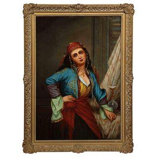 "Oregon Wilson ""Gypsy Dancer"" Orientalist Oil Painting"