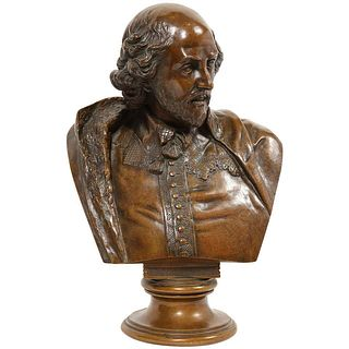 German Bronze Bust of William Shakespeare by Aktien-Gesellschaft Gladenbeck