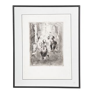 Marc Chagall. Dead Souls, etching