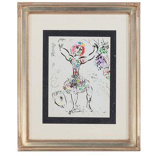 "Marc Chagall. ""Woman Juggler,"" lithograph"