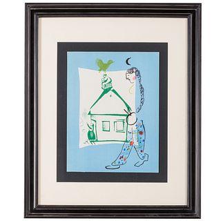 "Marc Chagall. ""La Maison..."" lithograph"