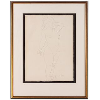 Raoul Dufy. Female Nude, graphite