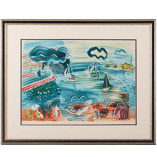 """Raoul Dufy. """"Bord de la Mer,"""" color lithograph"""