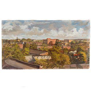 Nathaniel K. Gibbs. The View, oil