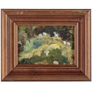 Nathaniel K. Gibbs. Leaves of Green, oil