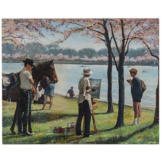 Nathaniel K. Gibbs. The Art Critiques, oil