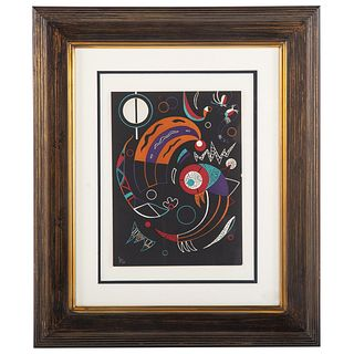 """Wassily Kandinsky. """"Comets,"""" color lithograph"""