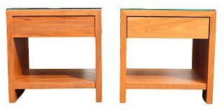Pair of American Modern Desiron Side Tables