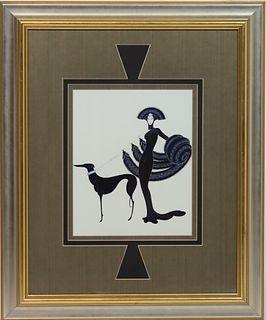 Erte (1892-1990) Symphony in Black