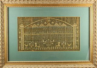 Important Early 19th Century American Sampler 1807
